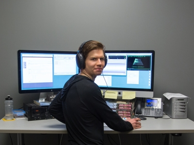 Geoff at the QC workstation