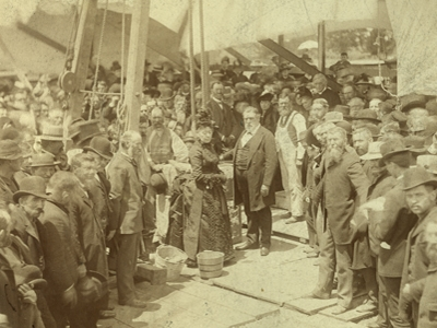 Cornerstone laying, 1887
