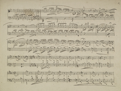 Robert Schumann's Sonata #4 for Piano (manuscript fragments)