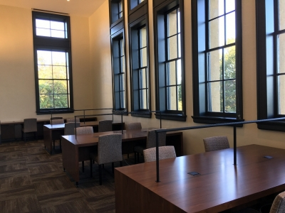 Study tables near windows