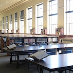 Main reading room in Cubberley Library