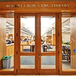 First-floor entrance to the Law Library