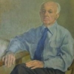 Anne Parker Wigglesworth, Portrait of Henry Cowell. 1964. Oil on canvas, 92 x 60 cm. Gift of Henry Cowell Coolidge Wigglesworth.