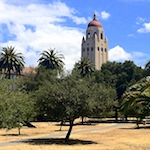 Hoover Tower, as seen from the Oval