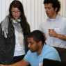 Student gets expert consultation at Software Carpentry Boot Camp, image by Amy Hodge