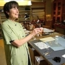 Cissie Dore Hill works on coordinating an exhibit coordinator at the Hoover Institution's library and archives; shown here in the Institution's preservation laboratory.