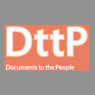"Official logo of ""DttP: Documents to the People,"" the official publication of the Government Documents Round Table (GODORT) of the American Library Association (ALA)."