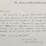Letter from Debussy to G. Moureg, 1919
