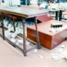 Damage to Cubberley Library from Loma Prieta earthquake 1989.