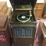 Edison - Diamond Disc Phonograph C-250 (after 1915). This model, along with the C-150, were the only phonographs being produced during the final quarter of 1918 due to limited productivity resulting from World War I. .