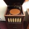Pathé - Model XII (1916). The American made line of Pathé phonographs featured a reproducer that could rotate to play either a vertical cut Pathé discs or lateral cut discs by another label.