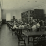 Photo of Cubberley Library reading room in 1938