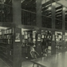Photo of Cubberley Library balconies in 1938