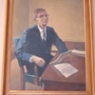 Painting of I. James Quillen
