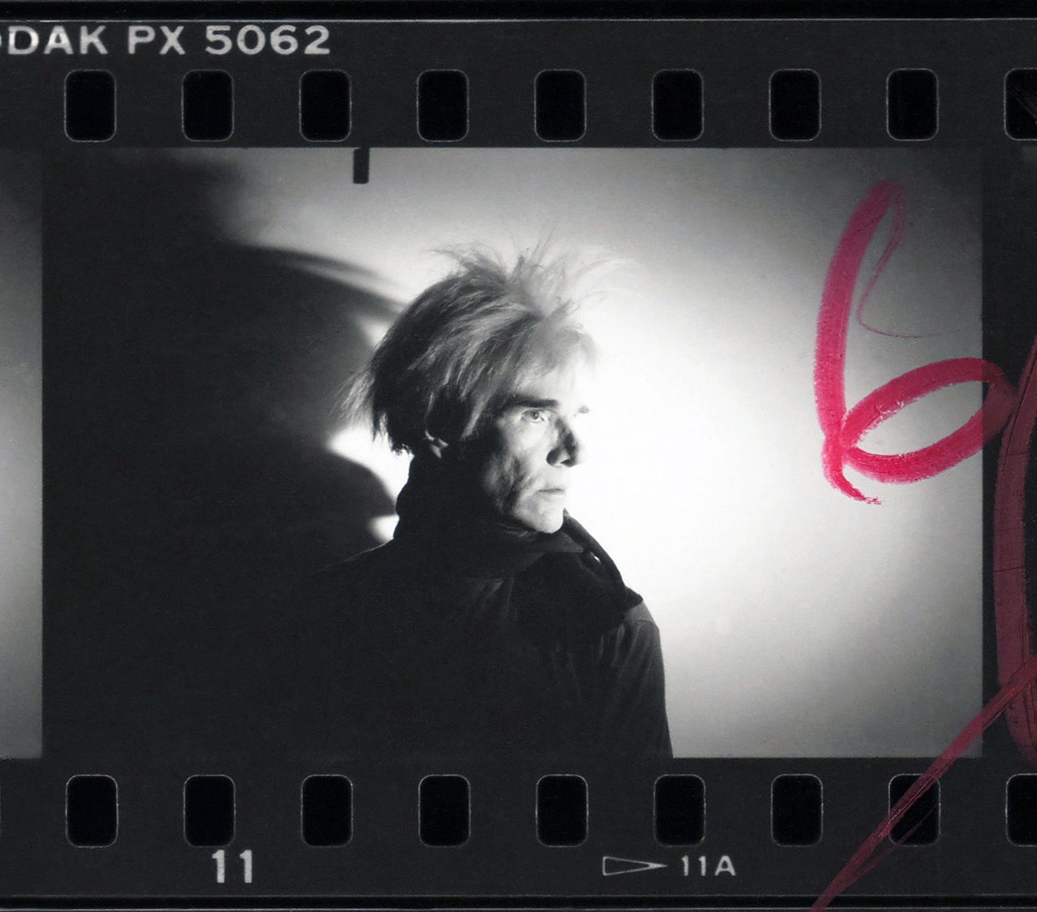 """Andy Warhol, """"Detail from Contact Sheet [Photo shoot with Andy Warhol with shadow],"""" 1986. Gift of The Andy Warhol Foundation for the Visual Arts. (Image credit: The Andy Warhol Foundation for the Visual Arts, Inc.) """"Andy Warhol's work continues to be some of the most recognizable in the world. However, his photographic work has been much less explored,"""" said Susan Dackerman, John and Jill Freidenrich Director of the Cantor. """"This exhibition allows viewers to see the direct links between the contact sheets"""